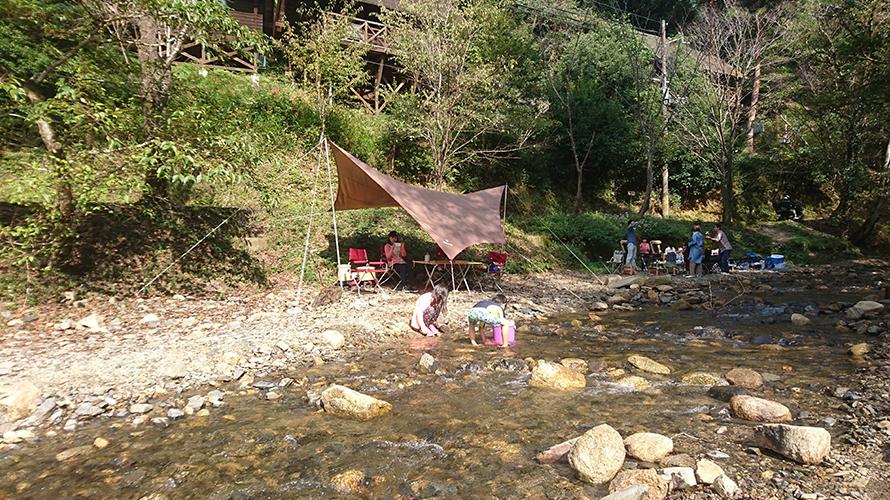京都府木津川市 山城町森林公園 川遊び( ディキャンプ ) レポート